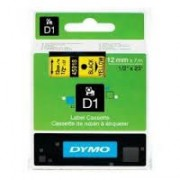 Dymo D1 Label Cassette 12mmx7m (SD45018) - Black on Yellow