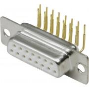 Conector D-SUB mamă, 15 pini, în unghi 90°, cu terminale lipire, 10120265 BKL Electronic
