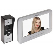 "Set videointerfon color Hikvision DS-KIS202, monitor non-touch 7"", montaj 4 fire - clasic, 12 V"