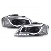 FK-Automotive feux de jour phare avant lumiere du jour Audi A3 8P année 08-12 noir
