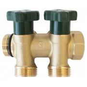 Distribuitoare Herz pentru instalații sanitare cu 2 circuite, DN 20, PN 10, cod 2 8530 02
