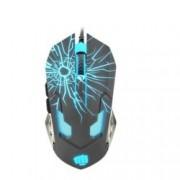 Мишка Fury Gladiator, оптична (3200 dpi), USB, сива, гейминг, подсветка, 6 бутона
