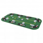 vidaXL 8 személyes, négyszögletes, zöld összecsukható pókerasztallap