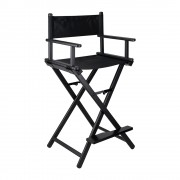 BeautyLushh Make-Up összecsukható sminkes szék, fekete