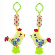 Gotovang 0-12 Months Baby Hand Bell Animal Windbell bed/car Baby Toys Cute Soft hanging bells Kids educational toys