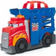 Set de constructie Mega Bloks Camion cu masinuta si pista de lansare 10 piese