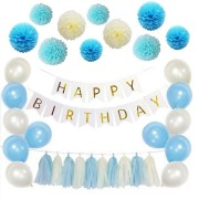 Paper Flower Party Home Decorations Glitter Banner Happy Birthday Banner Glitter Party Decor Photo