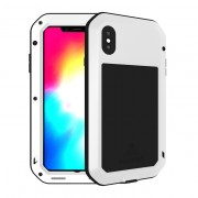 LOVE MEI for iPhone XS Max 6.5 inch Dust-proof Defender Mobile Shockproof Shell - White
