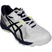 Asics Gel-Peake 4 Men Cricket Shoes For Men(White, Blue, Silver, Green)