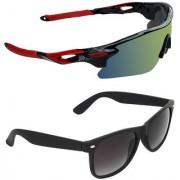 Zyaden Combo of 2 Sunglasses Sport and Wayfarer Sunglasses- COMBO 2758