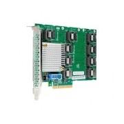 HPE Tarjeta PCI Express ML350 Gen9, 12 Gbit/s, 9 Puertos Mini SAS 4i