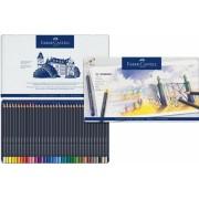 Set creioane colorate 36 culori Goldfaber cutie metal Faber-Castell