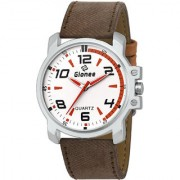 GIONEE MRT-016 Analog White Dial Casual and Professional Wrist Watch for Men with Durable Matching Stripe.