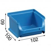 Allit Plastové boxy plus 1, 102 x 100 x 60 mm, modré, 30 ks