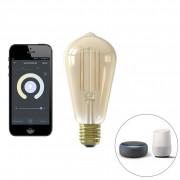 Calex Smart E27 dimbare LED filament lamp ST64 7W 806 lm 1800-3000K