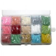 Beadsnfashion Jewellery Making Seed Beads Colors Of Joy DIY Kit 15 Colors