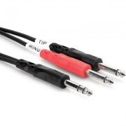HOSA 1/4 in TRS to Dual 1/4 in TS, 2 m Insert Cable