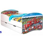 Patut Nobiko Rainbow Banbao Line 160 x 80 cu saltea si sertar Supercars5