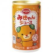 《ハロートーク》 〈POM〉みきゃんジュースストレート果汁100% 160g×24缶
