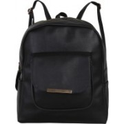 JMO27Deals FB-09 High Quality Leatherette 15 L Backpack(Black)