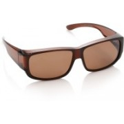 Polaroid Spectacle Sunglasses(Brown)