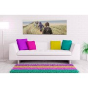 Gallery SI Limited t/a Colour House £9.99 (from Colour House) for a personalised 76cm x 25cm panoramic canvas