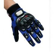 Blue Pro-Biker Riding gloves