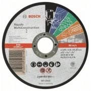 Диск за рязане, прав, Rapido Multi Construction ACS 46 V BF, 125 mm, 1,6 mm, 2608602383, BOSCH
