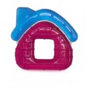Baby Care Hűthető rágóka - Házas Piros, kék tetővel