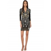 Just Cavalli Bodycon Printed Knit Dress Black Variant