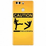 Husa silicon pentru Huawei P9 This Is Sparta Funny Illustration