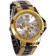 TRUE CHOICE Rosara Round Dial Black Rose Gold Other Strap Quartz Watch For Men