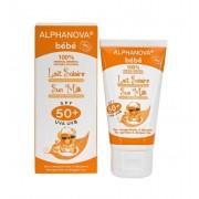 Alphanova Sun Sun zonnebrand milk baby SPF50 zonder parfum 50 gram