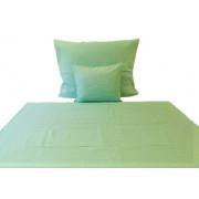 240x260 cm méretű zöld levél mintás ágytakaró, ágyterítő