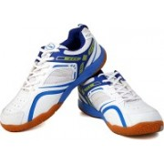 Proase Badminton Shoes For Men(White, Blue)