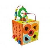 Bino Деревянная игрушка Bino многофункциональный куб 84189
