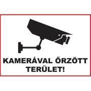 DE Üveg matrica 3 A4 - KAMERÁVAL ŐRZÖTT TERÜLET!