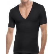 SPANX For Men Cotton Compression Deep V Neck Short Sleeved T Shirt Black 629