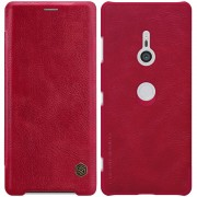 NILLKIN Qin Series PU Leather Phone Cover with Card Holder for Sony Xperia XZ3 - Red