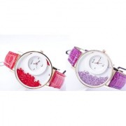 WOmen Lady Wadding Fashion Combo Of Tow(red Perpal) Women And Girl Watch by 7 star