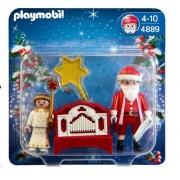Playmobil Christmas 4889 Father Christmas, Angel and Hand Organ by Playmobil