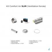MCZ Kit complet Comfort Air Slim pour gamme bois MCZ
