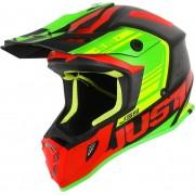 Just1 J38 Blade Motocross hjälm Röd Grön XS