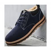 Zapatos Botas Para Hombre Fashion-cool -Azul