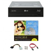 LG 16x WH16NS40 Internal Blu-ray Writer Bundle with 1 Pack M-DISC BD and Cable Accessories (Supports CD DVD BD BDXL MDISC)