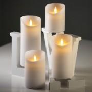 Luci Da Esterno Candela alta 10 cm Rustic Bianca con fiamma LED bianco caldo