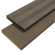 aMbooo Vlonderplank bamboe Vintage geolied graniet grijs 2,0 x 14 cm (2,20 mtr) Frans profiel/vlak