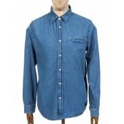 Edwin Jeans L/S Better Shirt - Light Stone Washed Colour: Light Stone