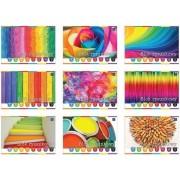 Rajzlap Rainbow színes, vegyes mintás borítóval színes A4 80gr 20ív/CSOMAG