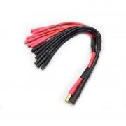 Cablu Adaptor de la 1 x Mufă Banană 5.5 mm către 6 x Mufă Banană 4 mm pentru Alimentare Hexacopter
